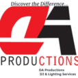 DA Productions DJ & Lighting Services Logo